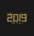 2019 golden numbers vector image