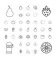 37 fruit icons vector image vector image
