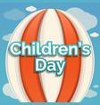 air balloon children day concept background vector image