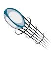 american football ball emblem vector image vector image