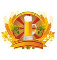 Beer mug in a vignette vector image vector image