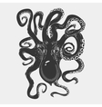 black danger cartoon octopus characters vector image