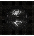 Black disco ball on black mosaic background vector image vector image