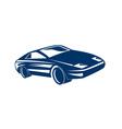 blue sports car vector image