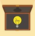 Bulb light idea Brief case vector image vector image