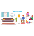 character family at home vector image