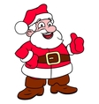 Cheerful smiling Santa Claus vector image