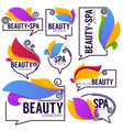 collection of doodle flowers emblems frames vector image vector image