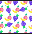 colorful fruits cartoon seamless pattern vector image vector image