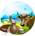 cow pot vector image vector image