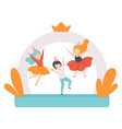 cute boys jumping on inflatable trampoline kids vector image vector image