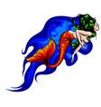 cute cartoon mermaids siren sea theme vector image vector image