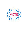 elections badge outline colored icon can be used vector image