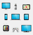 electronic devices and multimedia gadgets icons vector image vector image