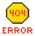 error page 404 pixel retro game style vector image