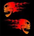 Fire Skulls vector image vector image