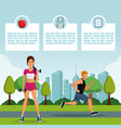 fitness people infographic vector image vector image