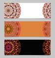 geometrical colorful horizontal flower mandala vector image vector image