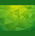green shading low poly geometric background vector image