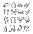 hand draw barbecue vector image vector image