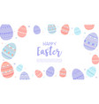 happy easter wallpaper with eggs vector image vector image