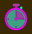 icon in flat design stopwatch vector image vector image