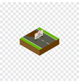 isolated under construction isometric repairs vector image vector image