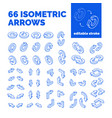 isometric arrows set vector image vector image