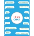 Live chat vector image vector image