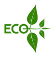 logo on the theme of ecology energy saving vector image