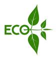 logo on theme ecology energy saving vector image