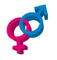 male and female symbol isolated icon vector image