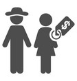 Marriage of convenience flat icon vector image