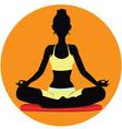 Meditating vector image