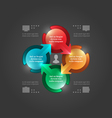 Modern Infographics 3D Circle Diagram vector image