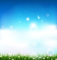 nature background with grass and light effects vector image