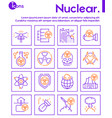 nuclear color linear icon set editable stroke vector image vector image