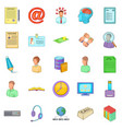 order icons set cartoon style vector image vector image