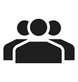 people group icon simple style vector image vector image