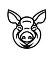 pig head logo mascot emblem vector image vector image
