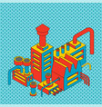 plant industrial isometric factory isolated pop vector image vector image