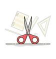 scissors stationery design flat icon vector image vector image