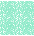 Seamless leaves pattern on teal background vector image vector image