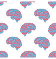 seamless pattern of the brain vector image vector image