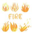 set flame a collection stylized vector image vector image