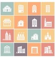 set of various buildings web icons vector image vector image