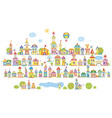 small toy town vector image vector image