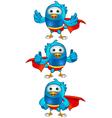 Super Blue Birds Set 2 vector image vector image