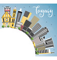 taguig philippines city skyline with color vector image vector image