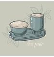 tea pair vector image vector image
